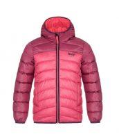 Dětská zimní prošívaná bunda s integrovanou kapucí