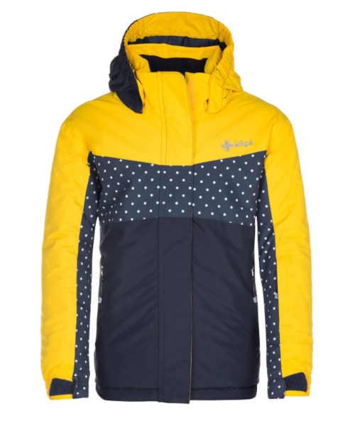 Dívčí lyžařská bunda s reflexními prvky z odolného materiálu
