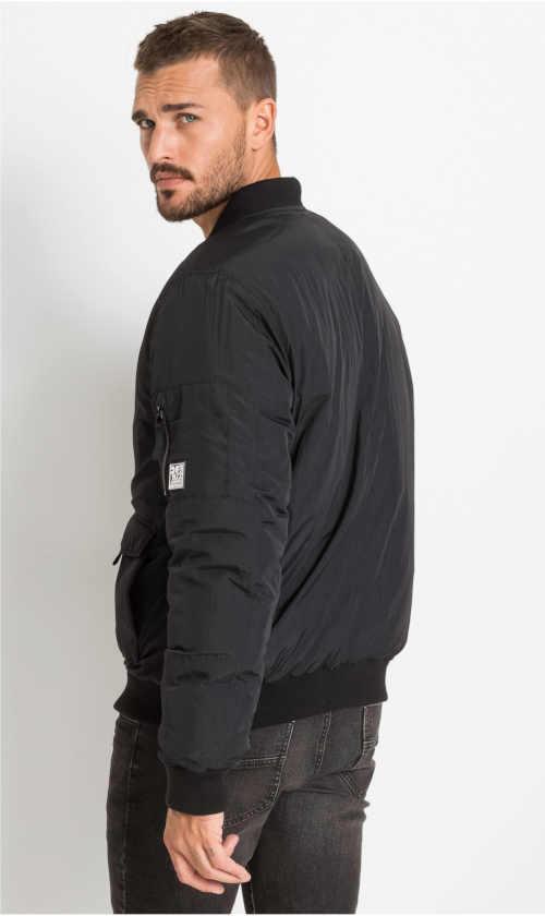 černá letecká pánská bunda