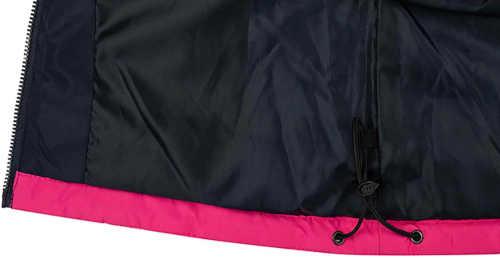 dětská bunda s kapucí a reflexními prvky