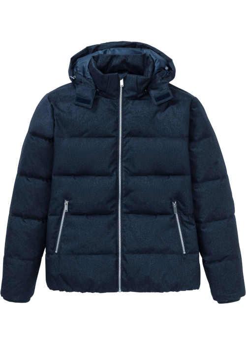 krátká bunda prošívaná s kapucí