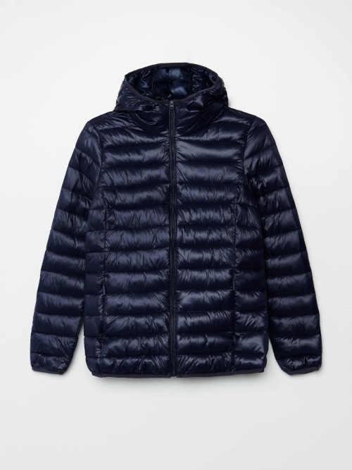 modrá krátká dámská bunda