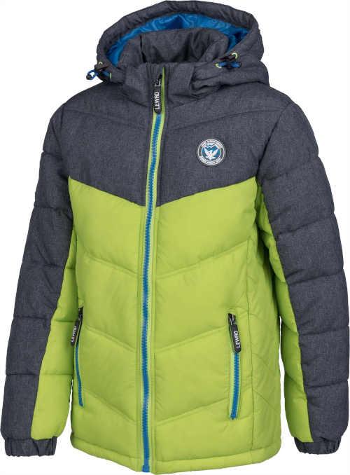 zeleno-šedá dětská bunda