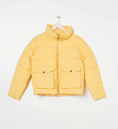 zimní krátká prošívaná bunda