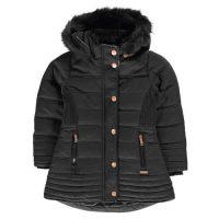 Dívčí moderní bunda s hřejivou podšívkou a praktickou kapucí