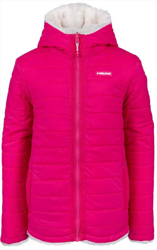 Oboustranná dívčí bunda s kapucí z kvalitního materiálu