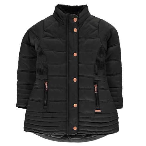 černá dívčí zimní bunda