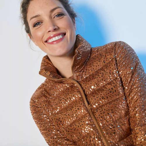 dámská zimní bunda lesklá
