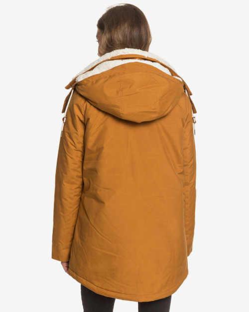 hnědá zateplená zimní bunda