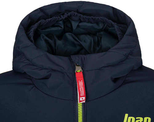 lyžařská bunda s kapucí a kapsami