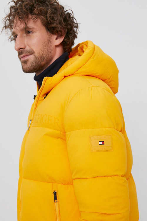 pánská prošívaná žlutá bunda