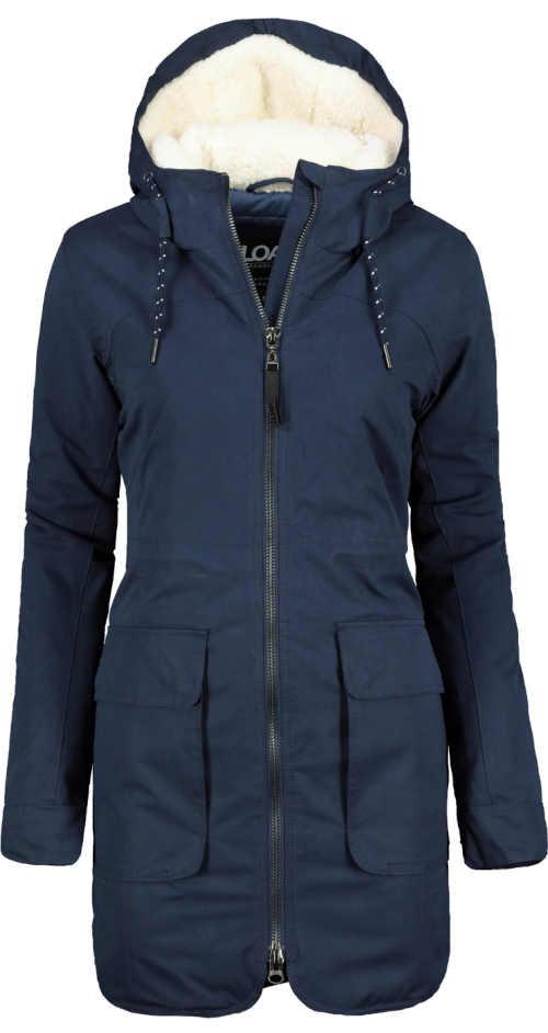 Dámská zateplená zimní bunda v prodloužené délce