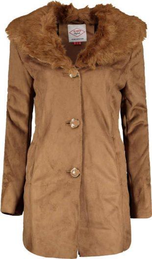 Dámský moderní kabát s kožešinou Lee Cooper Faux