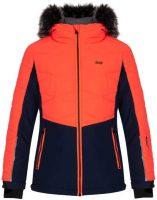 Dětská lyžařská bunda s kapucí a kožešinovým lemem