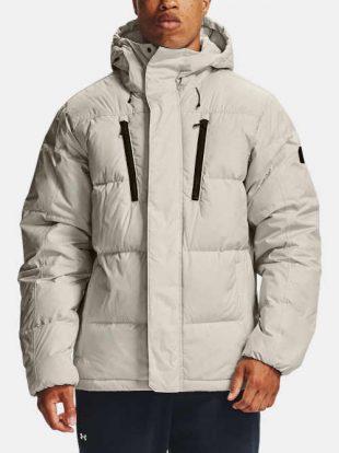 Moderní prošívaná pánská bunda s praktickou kapucí