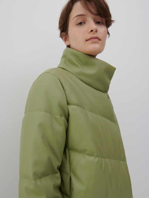 bunda s asymetrickým zapínáním