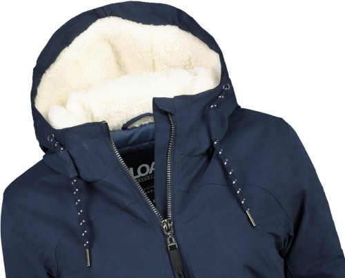 zateplená modrá dámská bunda