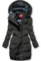 Černá dámská bunda s kapucí s hebkou plyšovou podšívkou
