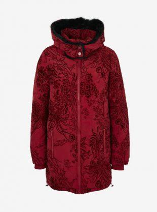 Dámský luxusní prošívaný kabát Desigual s kapucí