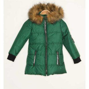Dětská zimní bunda s kapucí a kožešinovým lemováním