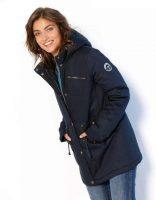 Nepromokavá dámská kapucí a fleecovou podšívkou