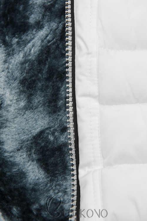 bílá bunda na zip