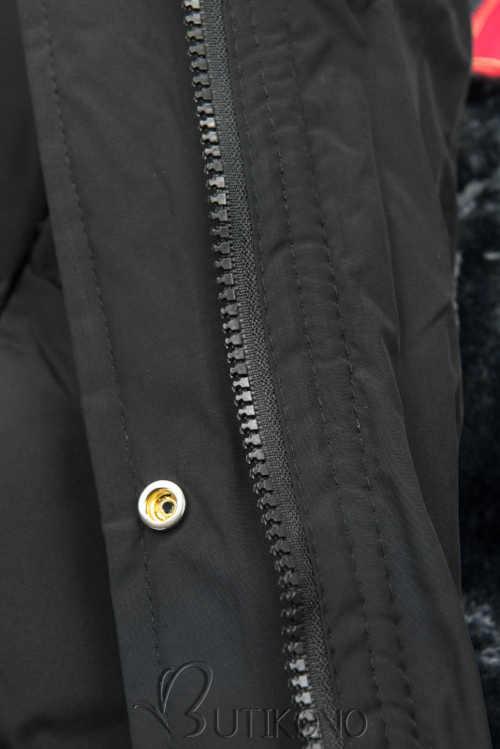 černá dámská prodloužená bunda