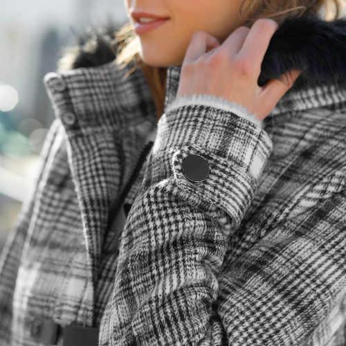 kabát na zapínání vpředu