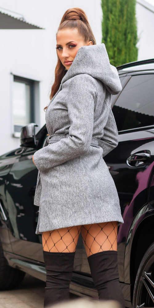šedá dámská zimní bunda