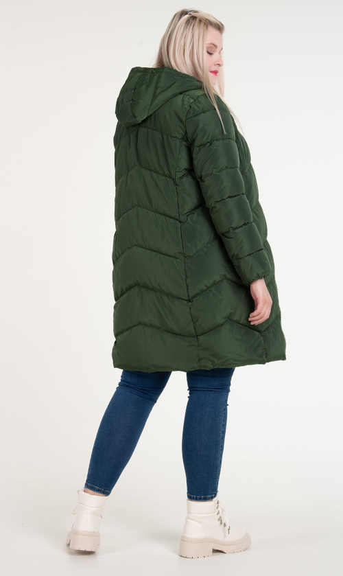 zelená dámská bunda s kapucí
